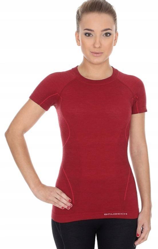 BRUBECK ACTIVE WOOL MERINO damska koszulka XL