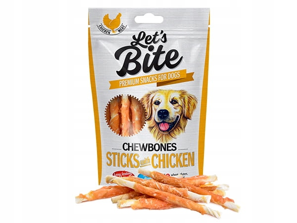Brit Lets Bite Chewbones Sticks Chicken 80g TERMIN