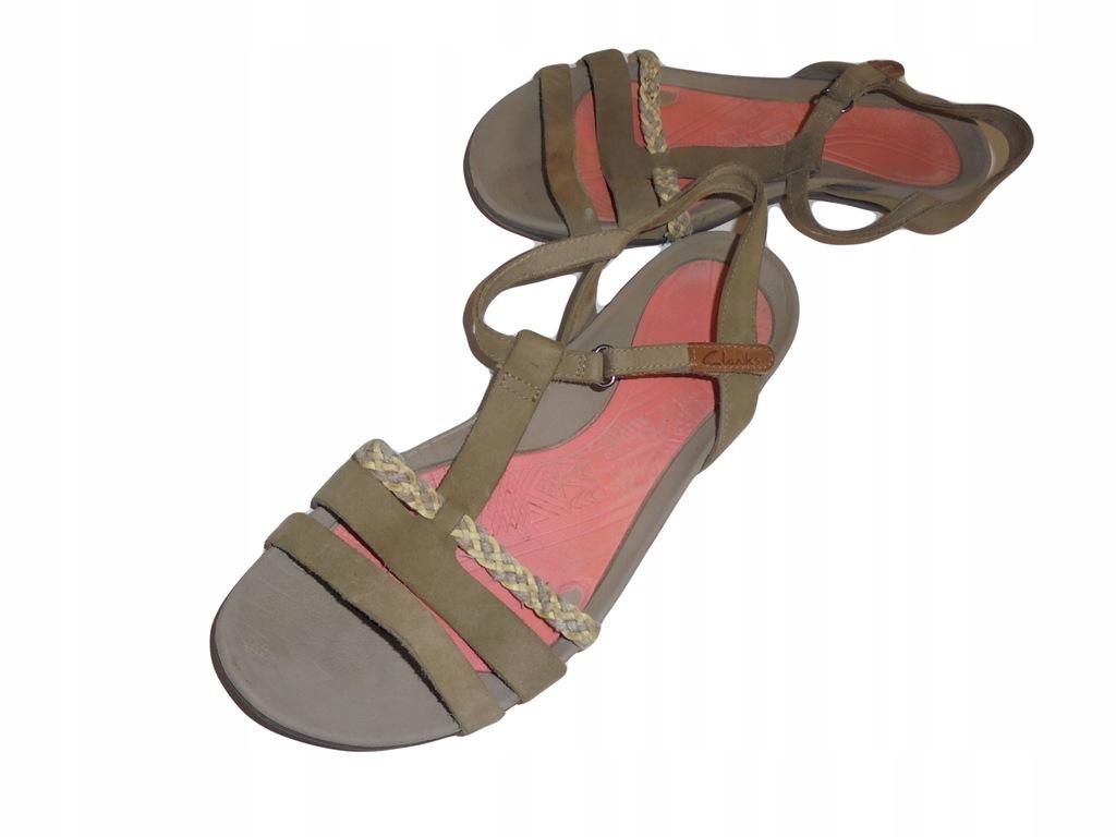Skórzane sandały firmy Clarks. Rozmiar 39,5.