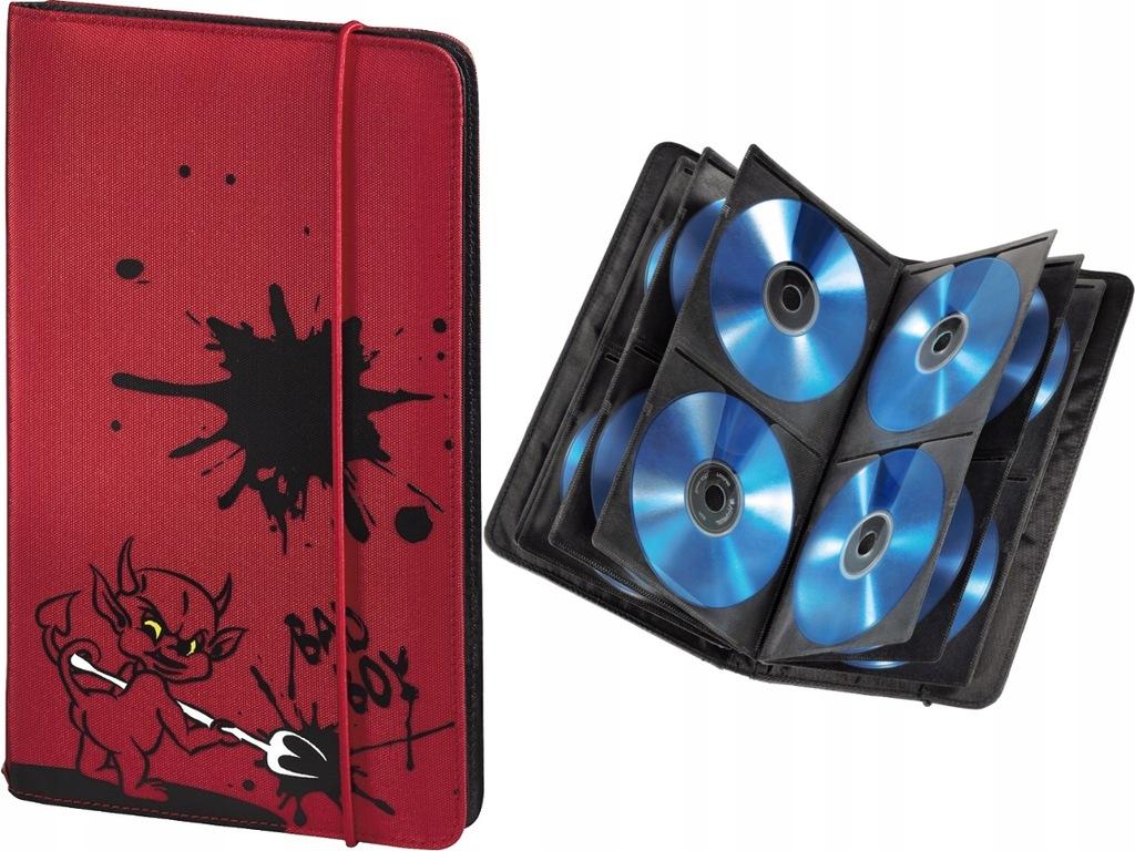 HAMA CD WALLET Pokrowiec Etui 48 płyt CD DVD - RED
