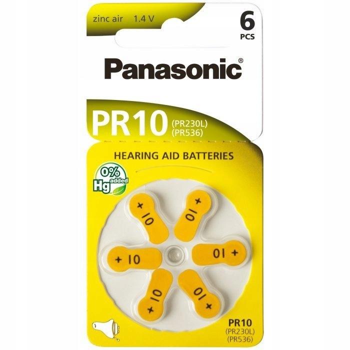 6x Baterie Panasonic 10MF (PR10) 1.45V 6 sztuk