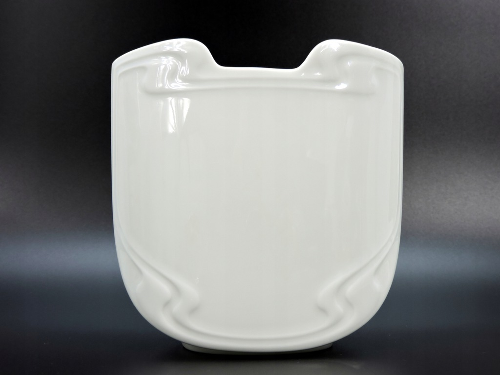 Wazon Rosenthal biały design Wiinblad Asimmetria