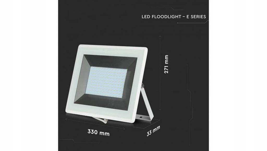 Projektor LED 100W 8500lm 3000K Biały IP65 5967