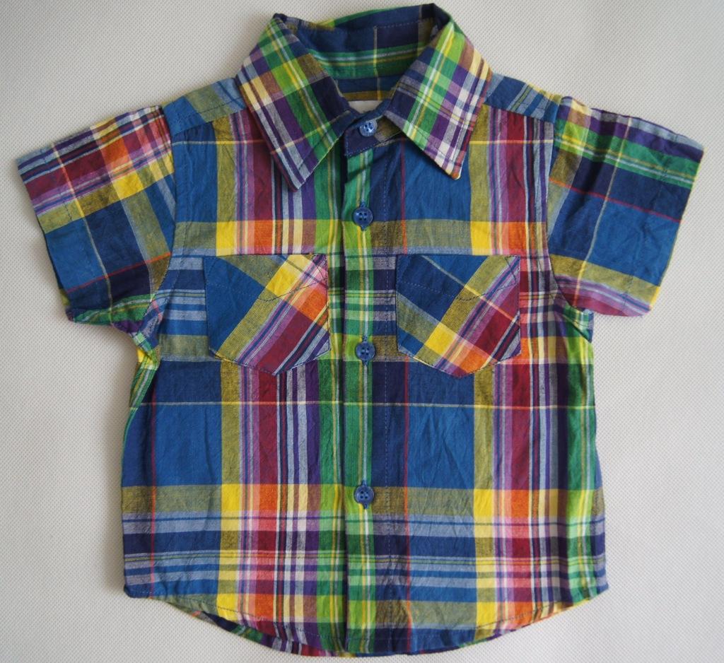 Ekstra koszula w kratę EARLY DAYS r 74 cm 9-12 m