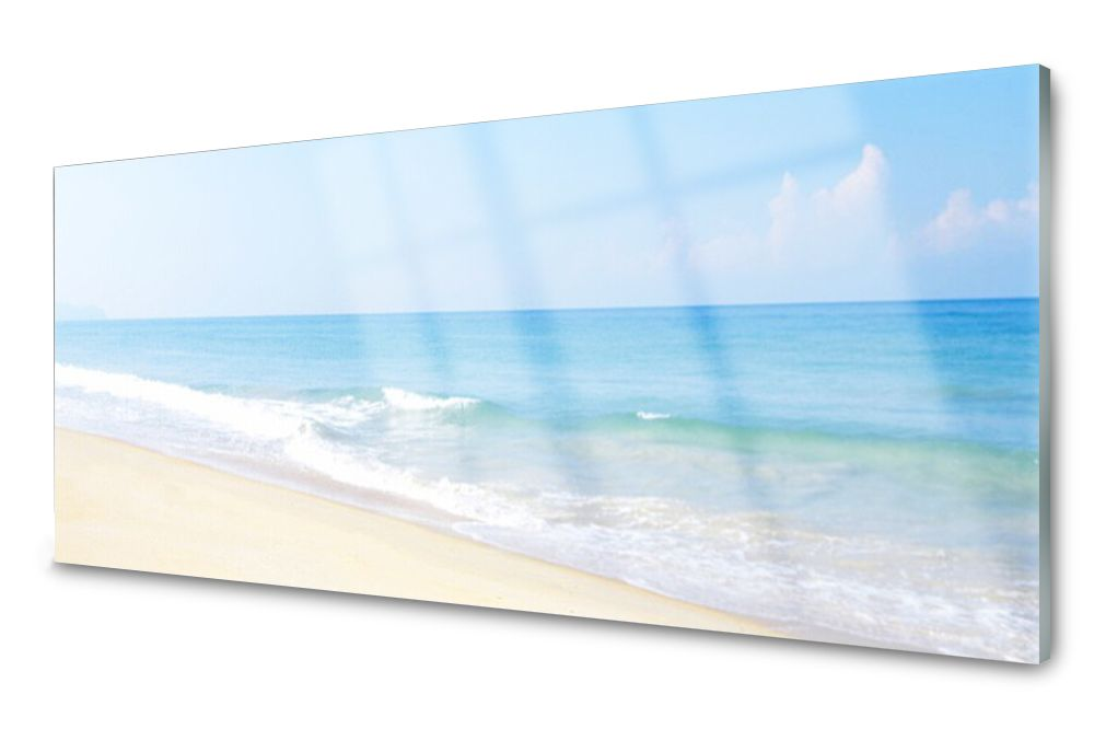 Lacobel Panel Szklany Ścienny Plaża Morze 120x60