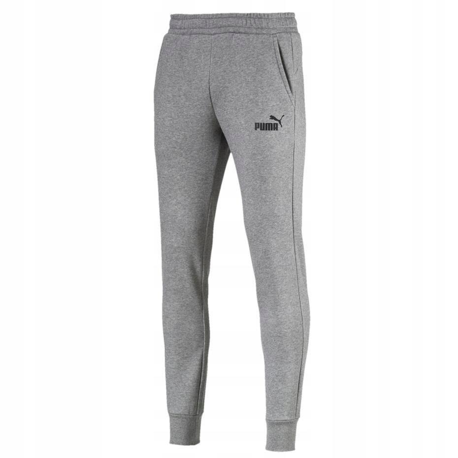 Spodnie Puma ESS Logo FL CL rozmiar L szare!