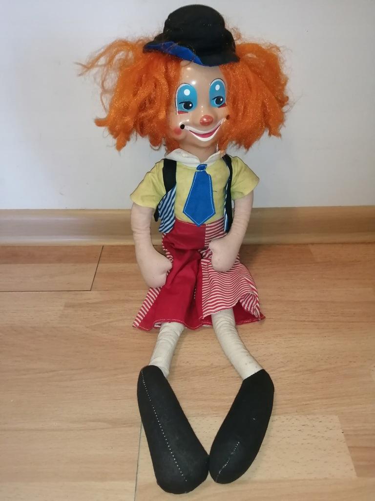 Stara maskotka klaun trociniak do czyszczenia