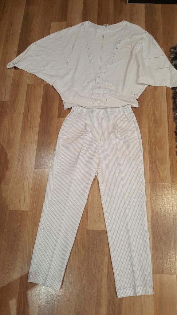 Reserved xs spodnie orsay s sweter białe