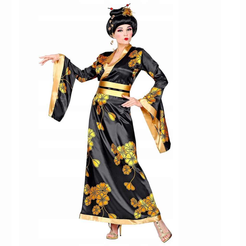 WIDMANN 01532 Women's Geisha Costume Size M Black