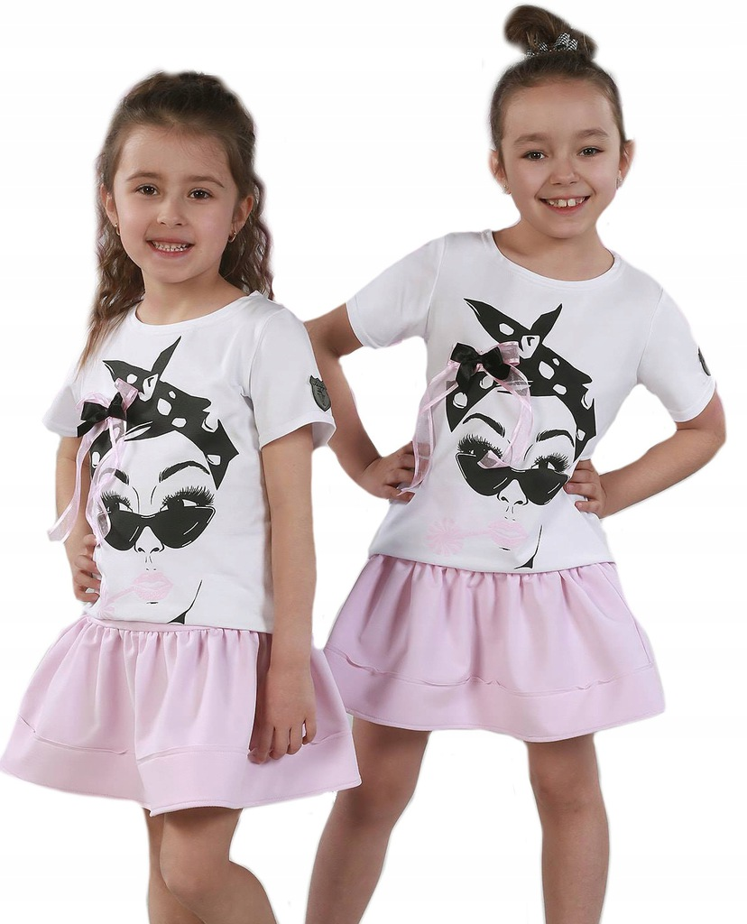 Komplet t-shirt spódniczka Kids by voga 146-152