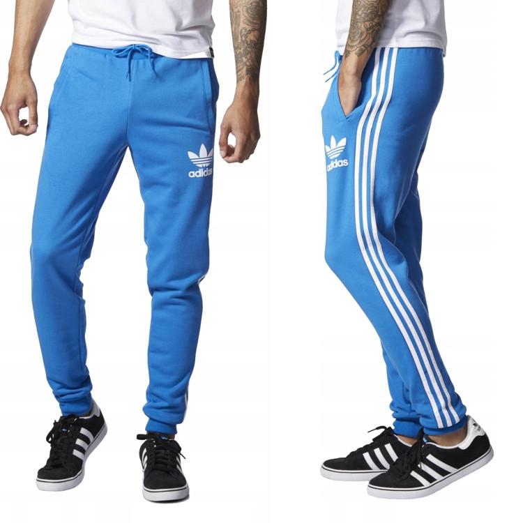 spodnie dresowe adidas męskie niebieskie