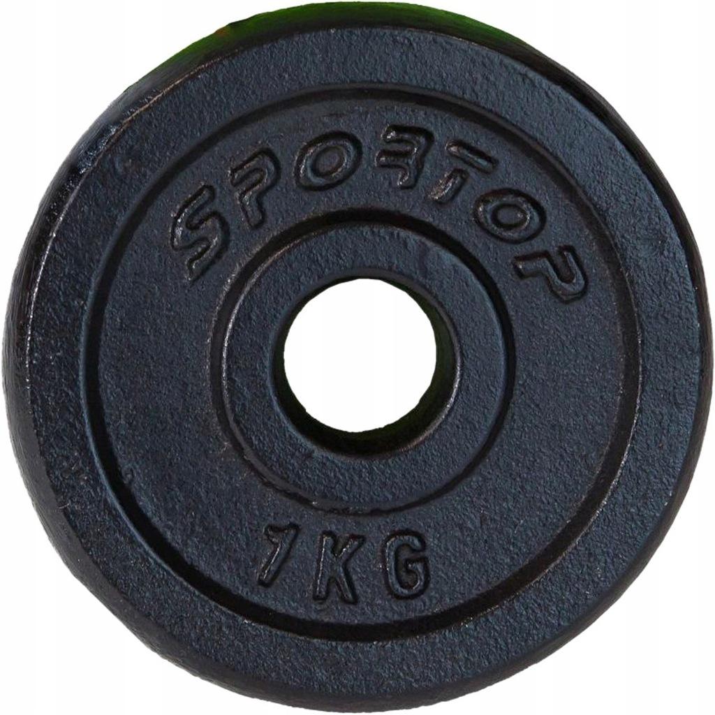 Obciążenie Żeliwne Czarne 1 Kg Sportop Fi28