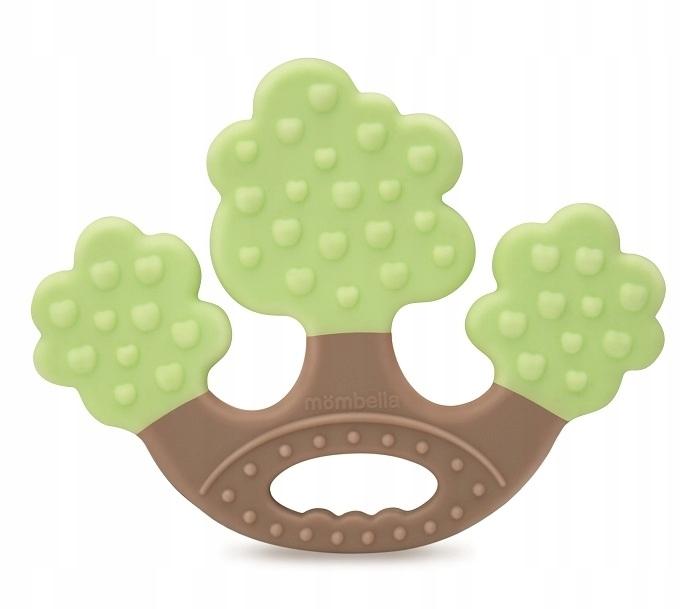 Gryzak silikonowy drzewko MOMBELLA zielony