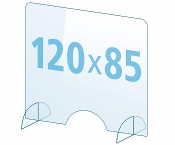 OSŁONA z pleksi ochronna PA szyba 4mm plexi 120x85