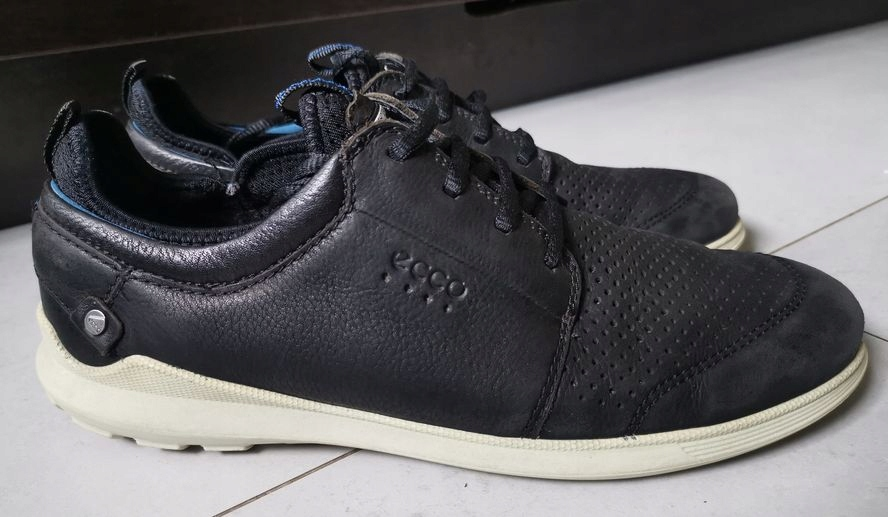 Buty męskie ECCO 42 czarne półbuty skóra trampki