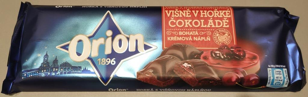 ORION czekolada gorzka wiśnia 240g
