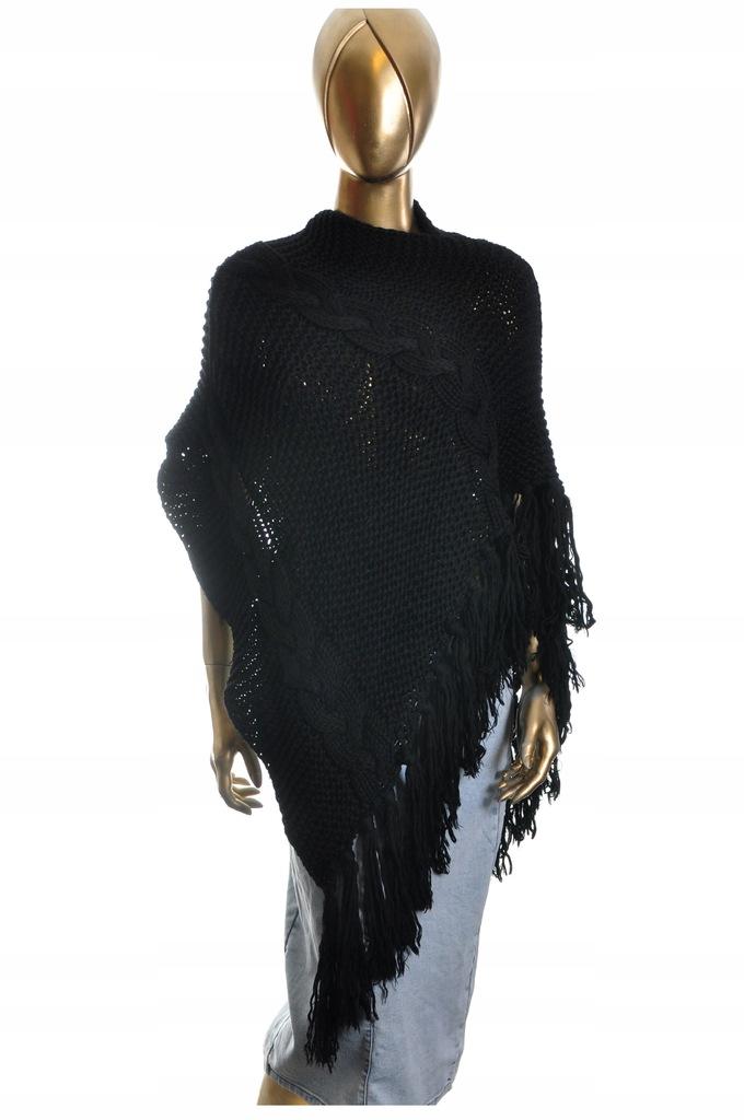 POLLINI sweter damski Ponczo 36 PROJEKTANT WŁOCHY