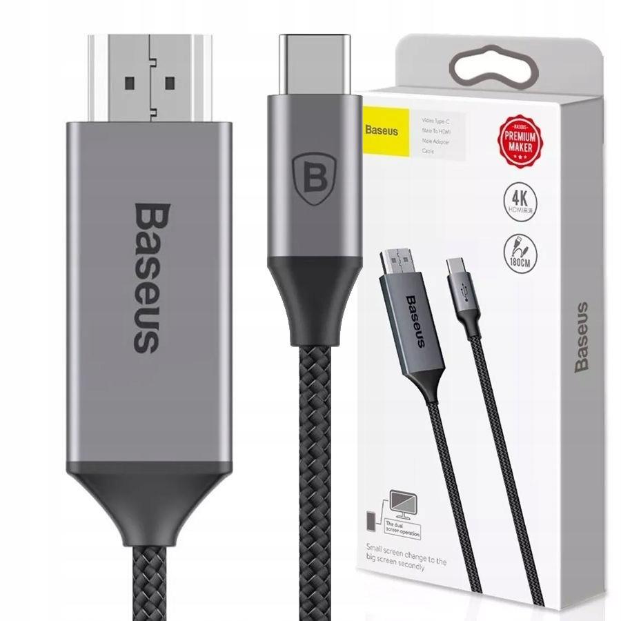 KABEL ADAPTER BASEUS USB-C TYP C - HDMI 4K MacBook