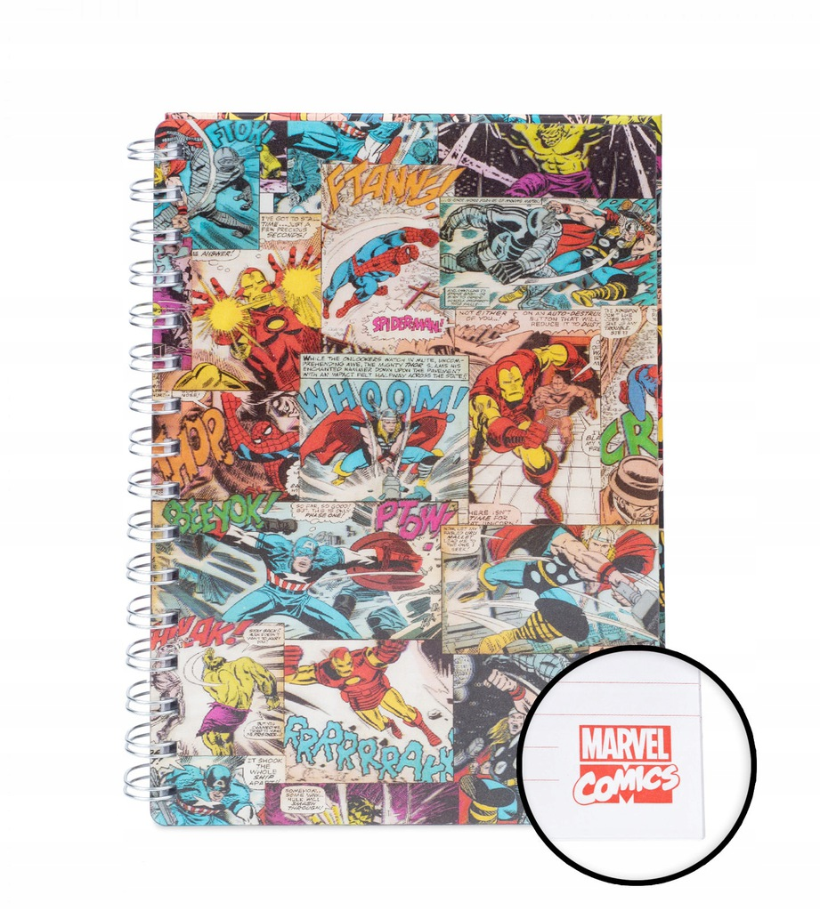Marvel Bohaterowie Komiks - notes A5, zeszyt