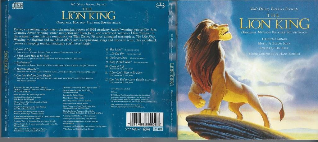Hans ZIMMER - lion king the - król lew 1994._CD