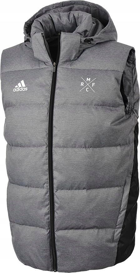 Adidas Kamizelka męska Real Down Vest szara r. S (