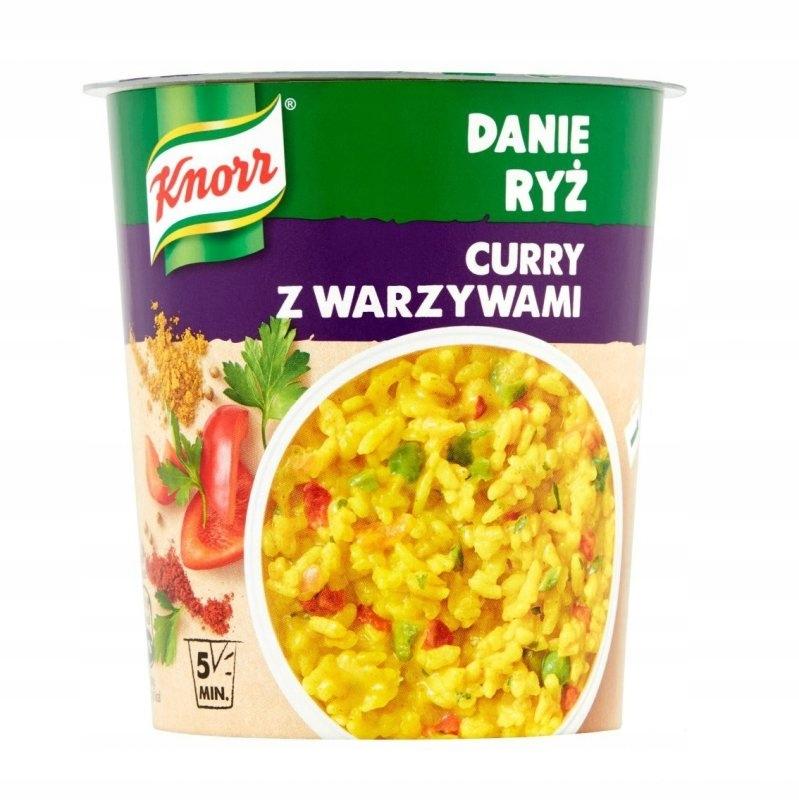 Danie Ryż Curry z Warzywami 73g