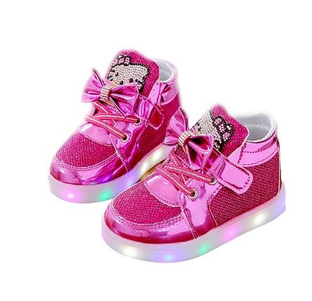 Hello Kitty Adidasy buty świecące LED r. 24 15cm