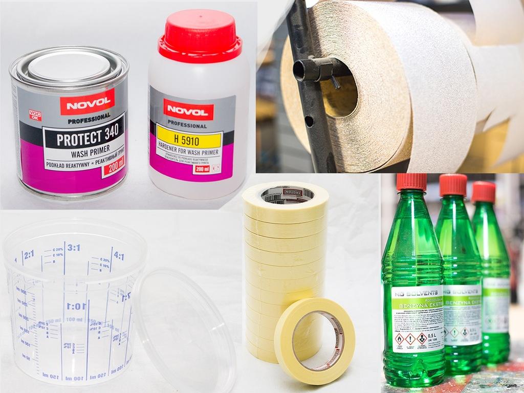 Zestaw antykorozyjny Novol, Taśma, Benzyna, Papier
