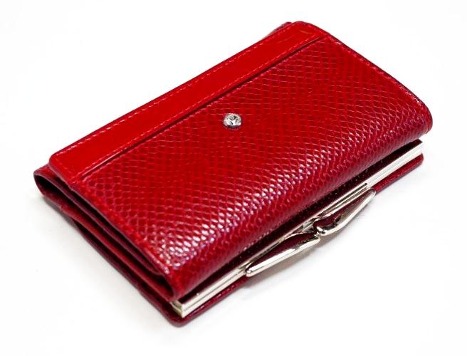 Skórzany damski portfel 12 X 8 cm Swarovski
