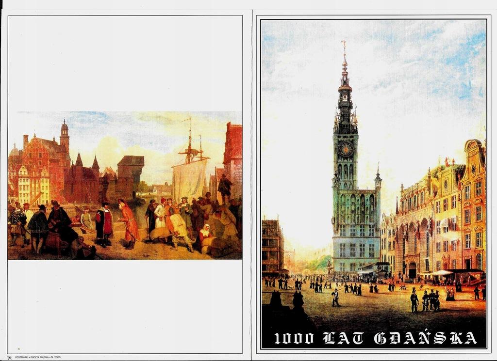Karta 1000 lat Gdańska 1997r