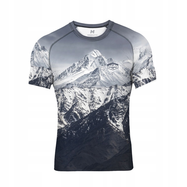 Koszulka wspinaczka oddychająca termo GÓRY szara L
