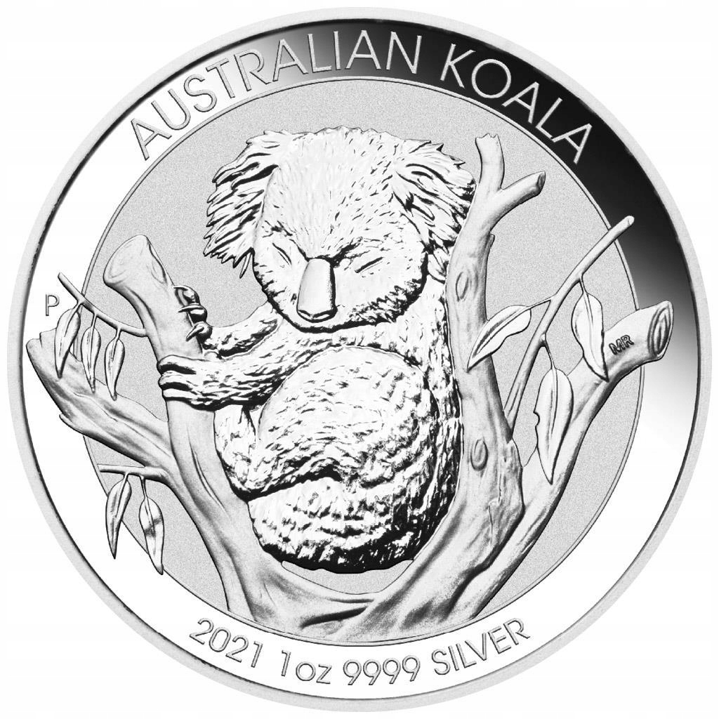1 oz uncja - 1 dolar Koala 2021 - Australia