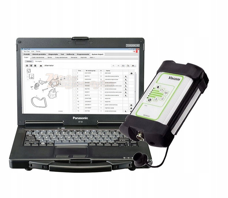 Tester Laptop Diagnostyka Volvo Trucks Vocom 7616887937 Oficjalne Archiwum Allegro
