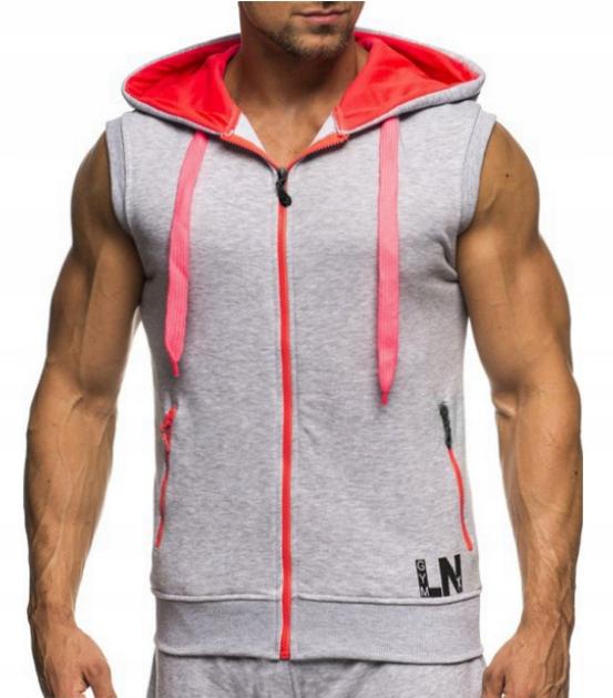 Bluza treningowa z kapturem bezrękawnik modna R. M