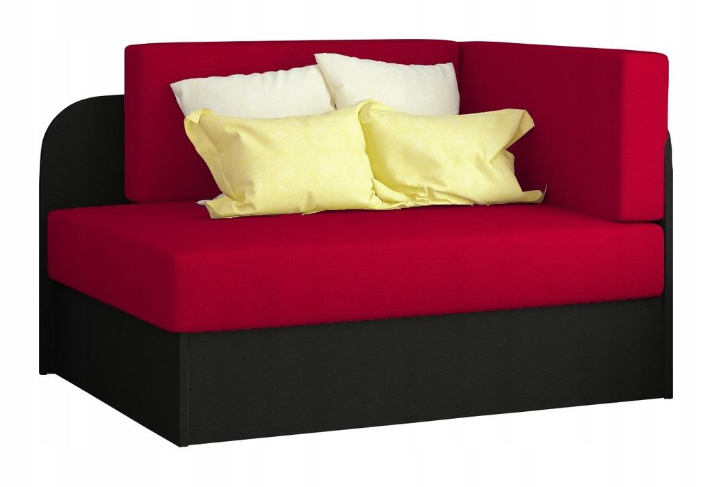 Kanapa łóżko ROSA rozkładane sofa czerwone RIBES