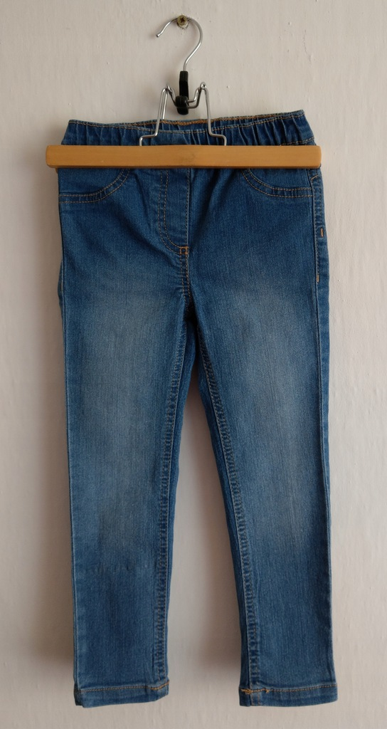 Dżinsowe legginsy, rozm. 104
