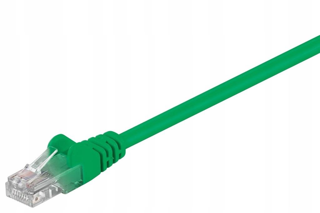 Kabel LAN Patchcord CAT 5E 1,5m zielony
