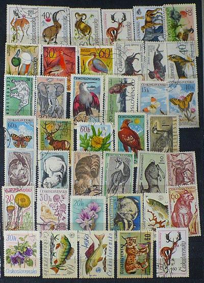 Czechosłowacja - znaczki tematyczne - zestaw 6