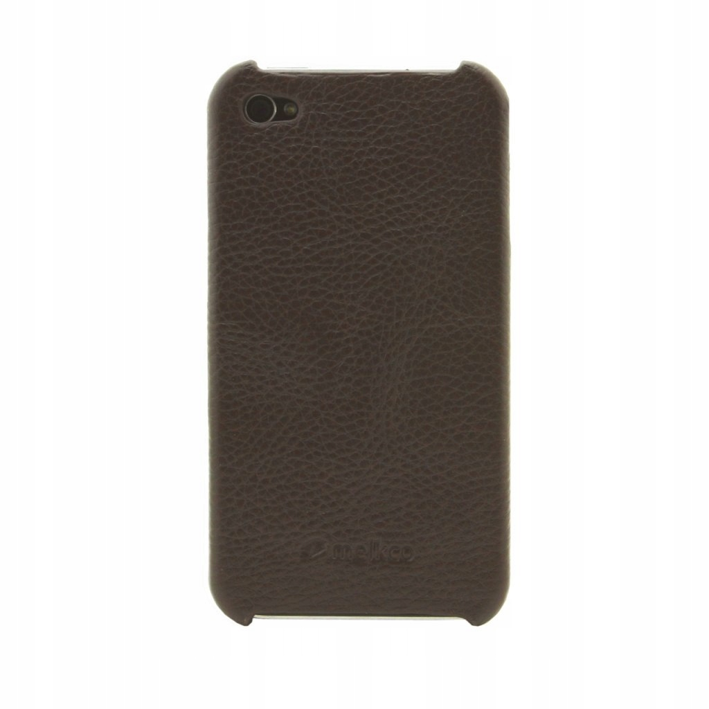 ETUI POKROWIEC LEATHER SNAP COVER IPHONE 4/4s brow