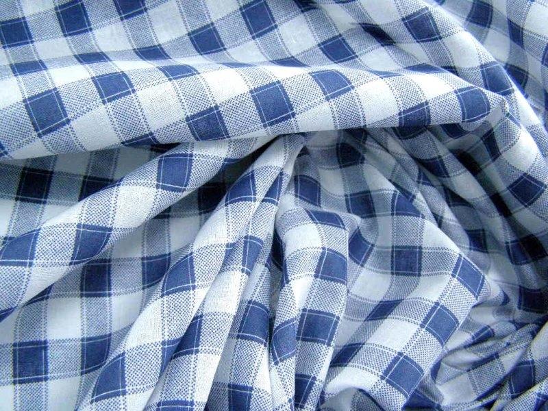 BATYST bawełniana tkanina na bluzkę koszulę kratka  PHc5N