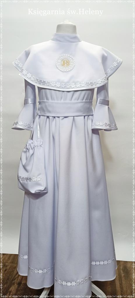 Alba sukienka komunijna biała wzrost 146 cm