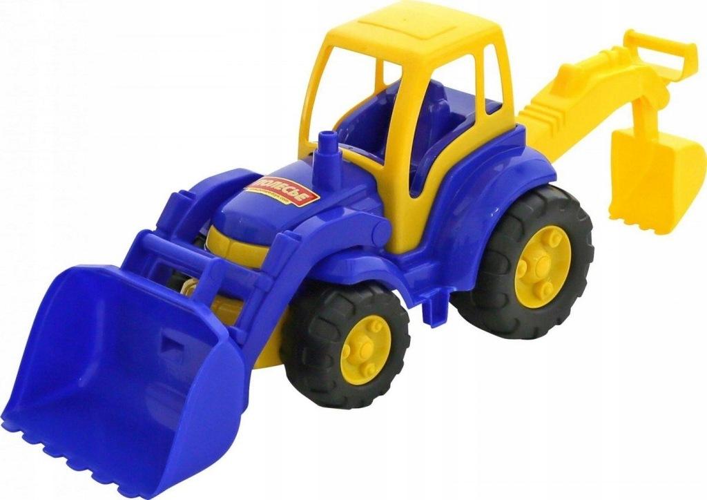 Traktor Mistrz z łopatą i łyżką, siatka