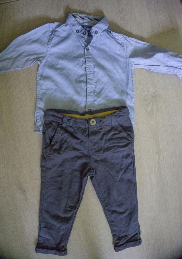 Koszula Next spodnie eleganckie 86