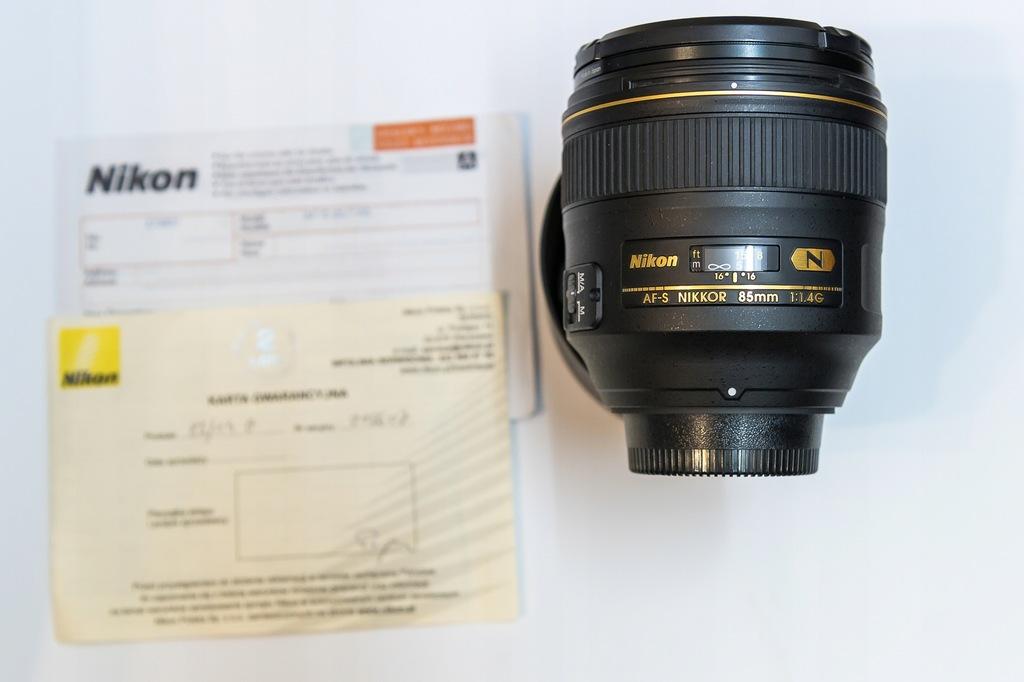 Obiektyw - Nikon Nikkor 85 1.4 G