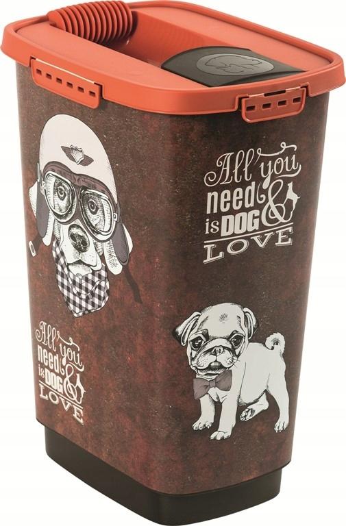 Pojemnik na karmę z dozownikiem 25 L CODY pies