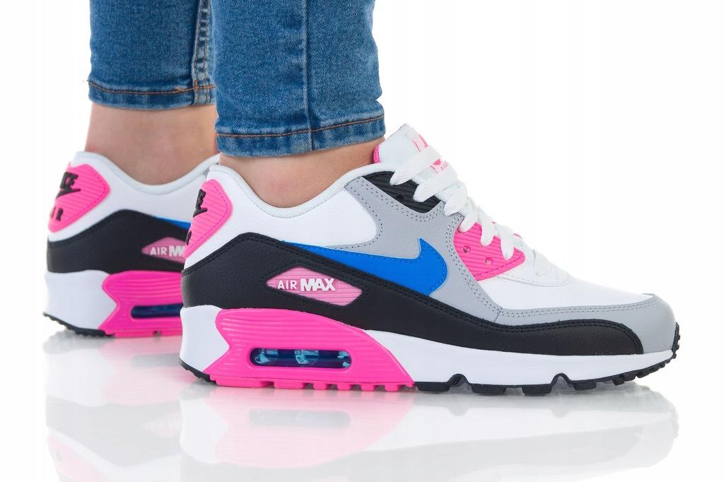 Buty Nike Air Max 90 Damskie Szary Biały Cyan Tanie