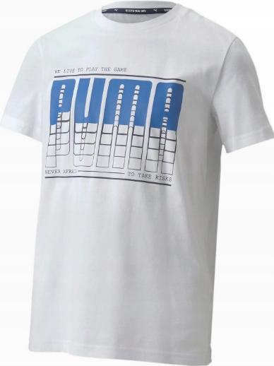 T-shirt koszulka PUMA 581173 02 Logo biała 104