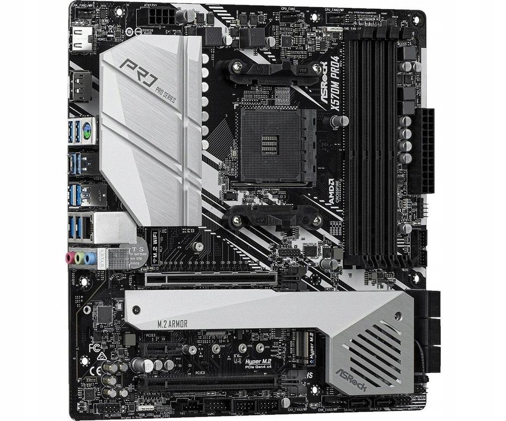 Płyta główna Asrock 90-MXBAS0-A0UAYZ (AM4; 4x DDR4