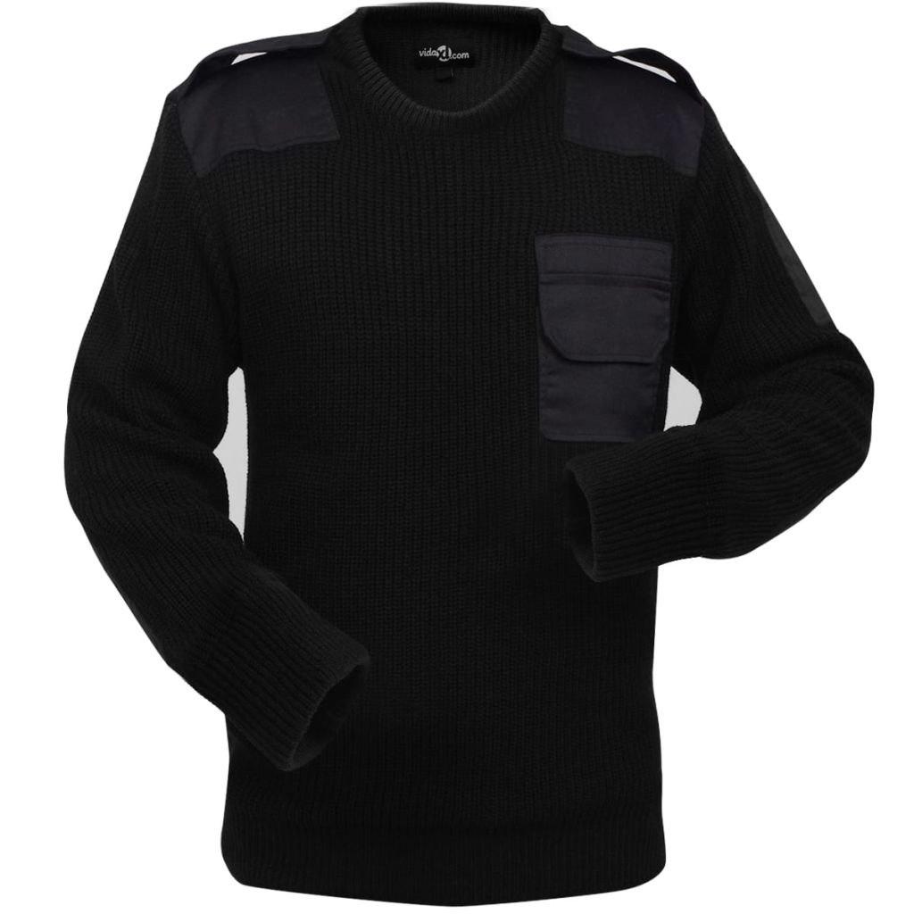 VidaXL Sweter męski do pracy, czarny, rozmiar L
