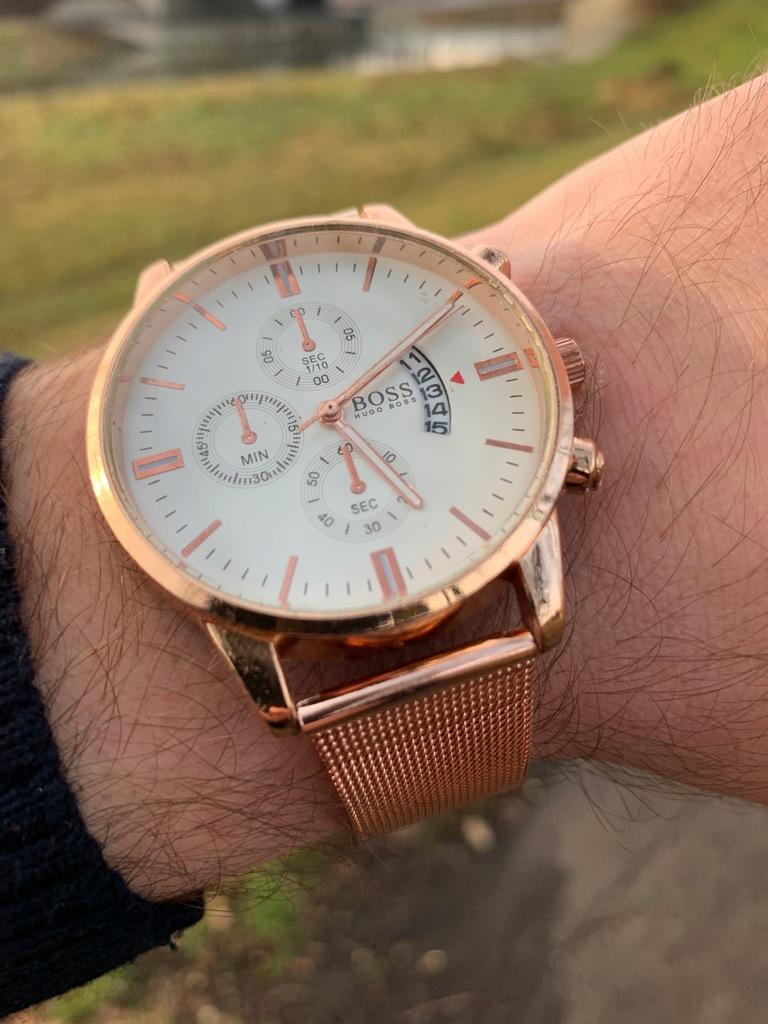 zegarek męski Hugo Boss gold BCM 24h